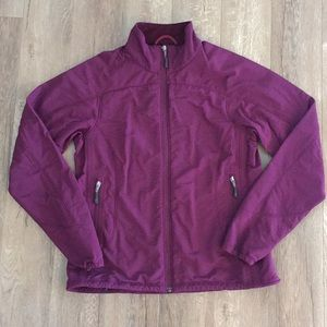 Ibex full zip purple climawool softshell